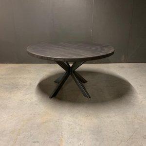 Zwarte ronde tafel